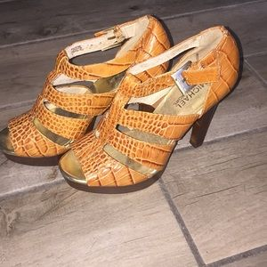 Tan Leather Platform Michael Kors Platform Heels